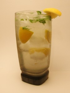 Beefeater Collins with Coriander Leaves