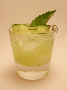 Cucumber Basil Gin Cocktail