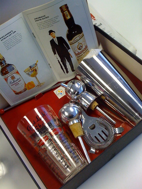 Gooderham's Promo Catalog - 1960s Mr Bartender Bar Set