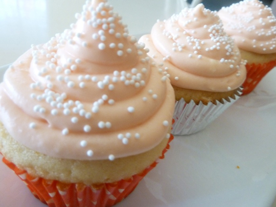 Orange Creamsicle Cupcakes with Orange Liqueur