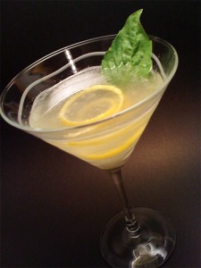 Lemon Vanilla Basil Cocktail